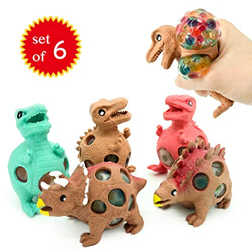 - EUYZOU Anti Stress Squishy Multicolored Hand Exercise DNA Ball, Slime Prime Toys for Kids, Animal Stress Ball, ADHD Fidget Toys, The Shape of Dinosaur Set of 6