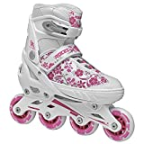 Roces 400809 Women's Model Compy 8.0 Adjustable Inline Skate, US 2.5-4.5, White/Violet