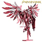 2016 Limited Edition Piececool Thundering Wings Gundam Robot P069-RS DIY 3D Metal Laser Cut Puzzle Models Jigsaw Toys - Red
