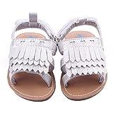 Binmer(TM)Baby Shoes Baby Tassel Sandals Toddler Princess First Walkers Girls Prewalker ( 13 : 12~18 Month, Silver )