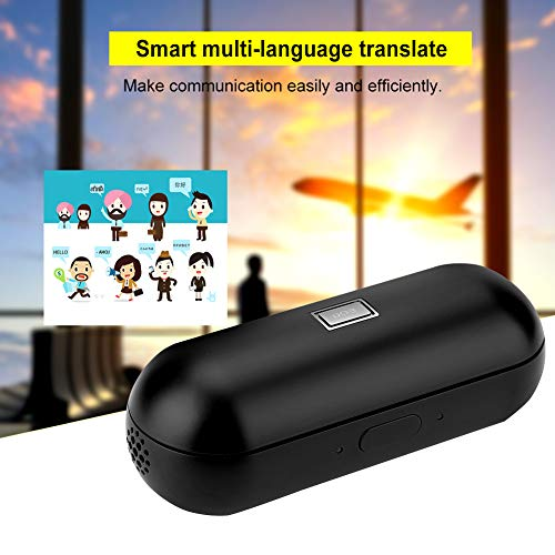 Instant Translator Device Smart Wireless Bluetooth Headset,ASHATA Waterproof 19 Language Translating Headphones Earpiece Earbuds with Dual Mic/Noise Reduction for Study Travel Busniess (Black) by ASHATA (Image #4)