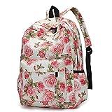 VIASA Fresh Style Women Fashion Backpacks Floral Print Bookbags Female Leisure Travel Backpack (C)