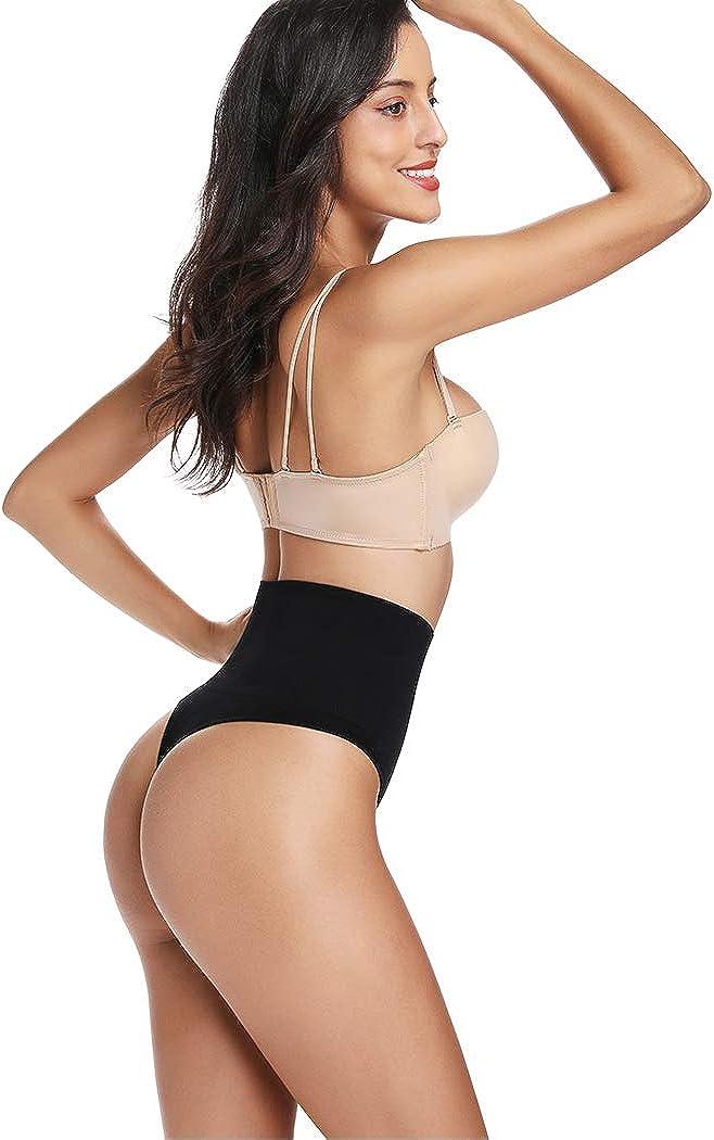 Thong Shapewear for Women Tummy Control Seamless High Waist Thongs Panties Underwear Slim Body Shaper