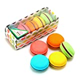 Eraser Material:Rubber Promotional Eraser Shape:Macaron Eraser Style:Promotional Eraser Packaging Including:5Pcs Eraser/Box Package Size:11cm x 11cm x 11cm (4.33in x 4.33in x 4.33in)
