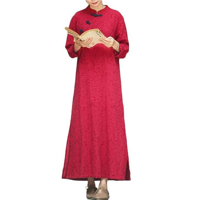 Amazon.com: lzjn Mujer chino cheongsam Qipao vestido de ...
