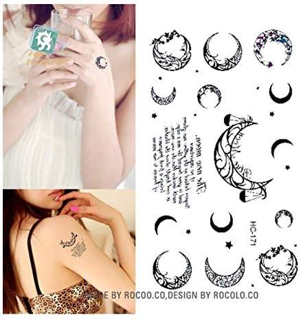 DRTHUKG Etiqueta Engomada del Tatuaje Productos Impermeables ...