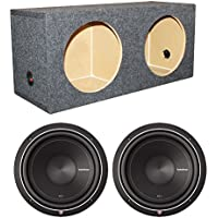 2 Rockford Fosgate Punch P1S4-12 12 Car Subwoofers + Sealed Sub Enclosure Box