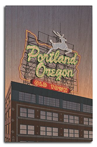 Portland, Oregon - Made in Oregon Sign (10x15 Wood Wall Sign, Wall Decor Ready to Hang) by Lantern Press (Image #3)