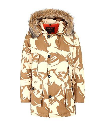 Woolrich Men's Tech Camo Arctic Parka Down Fur - John Rich & Bros., SAND CAMOU (White), Size - Arctic Woolrich Mens