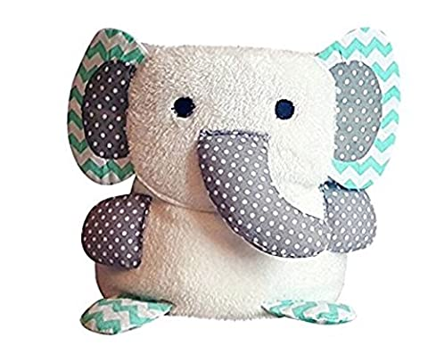Premium Baby Blanket, Multi Purpose - Cuddly Toy, Comforter And Playmat, Best Gift For Baby Showers - Super Soft Fleece, Unisex, Fluffy, Cute & Colourful - Size 90cm x 60cm White Elephant
