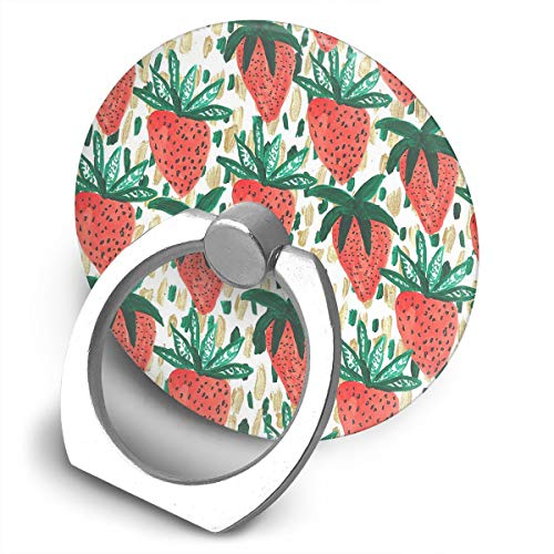 Yuotry 360 Degree Rotating Ring Stand Grip Mounts Red Strawberry Universal Phone Ring Bracket Holder Smartphone Ring Stent -