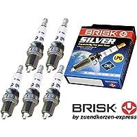 BRISK Silver DR15YS 1334 Bujías de Encendido Benzin LPG CNG Autogas, 5 piezas