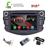 HIZPO 7' Android 6.0 Quad Core Capacitive Touch Screen Car Stereo Radio DVD Player with Screen Mirroring Function OBD2 DAB+ for Toyota RAV4