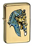 Vector KGM Thunderbird Custom Lighter - Egypt Pharaoh King TUT Ancient Ruler Brass Gold High Polish Chrome Finish