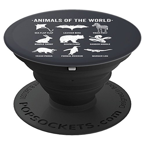 Simple Vintage Humor Funny Rare Animals of the World - PopSockets Grip and Stand for Phones and Tablets