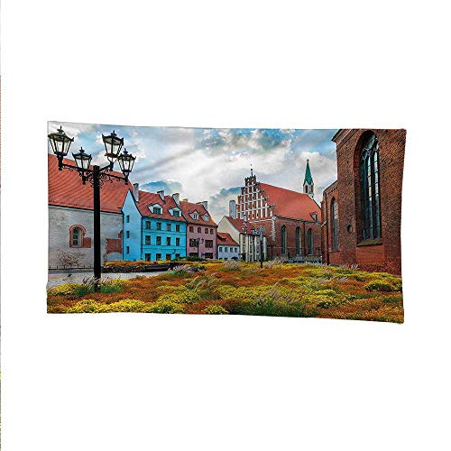 Victoriancool tapestrytapestry for wallOld City Riga Latvia 84W x 54L Inch ()