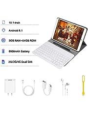 4G Tablet 10 Pollici con WIFI Offerte Android 8.1 Quad Core 3GB RAM 64GB ROM/Fino a 128GB 8000mAh WIFI Tablet 8Pcs DUODUOGO P8 Fotocamera 8MP 1280*800 Dual SIM Bluetooth GPS OTG