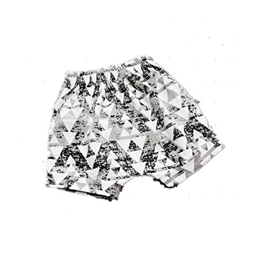 Winzik Newborn Infant Baby Kids Outfits Triangle Checked Pattern Summer Casual Cotton Shorts Harem Pants Beachwear (18-24 months, 5#)