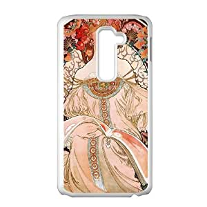 Zodiac Signs Alphonse Mucha LG G2 Cell Phone Case White Mrusj