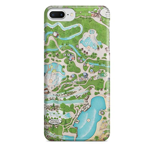 Queen of Cases Hard Shell Phone Case - Blizzard Beach - Map Beach Disney Blizzard