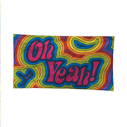 - Groovybeach Tapestry Wall hangingdorm Room tapestryRainbow Psychedelic Oh Yeah 84W x 54L Inch