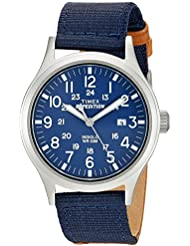 Timex Mens TW4B07000 Expedition Scout Tan/Blue Mixed Material Strap Watch
