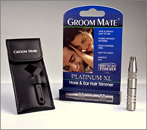 groom mate platinum xl nose ear hair trimmer w pouch brush made in usa. Black Bedroom Furniture Sets. Home Design Ideas