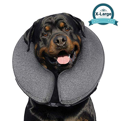 MIDOG Pet Inflatable Collar for After Surgery,Soft Protective Recovery Collar Cone for Dogs and Cats to Prevent Pets from Touching Stitches, Wounds and Rashes (X-Large(Neck:19