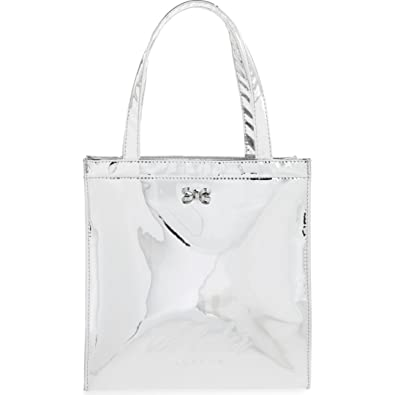 4cef0b03e Ted Baker Small Doracon Mirrored Tote Bag in Silver with Bow  Amazon ...