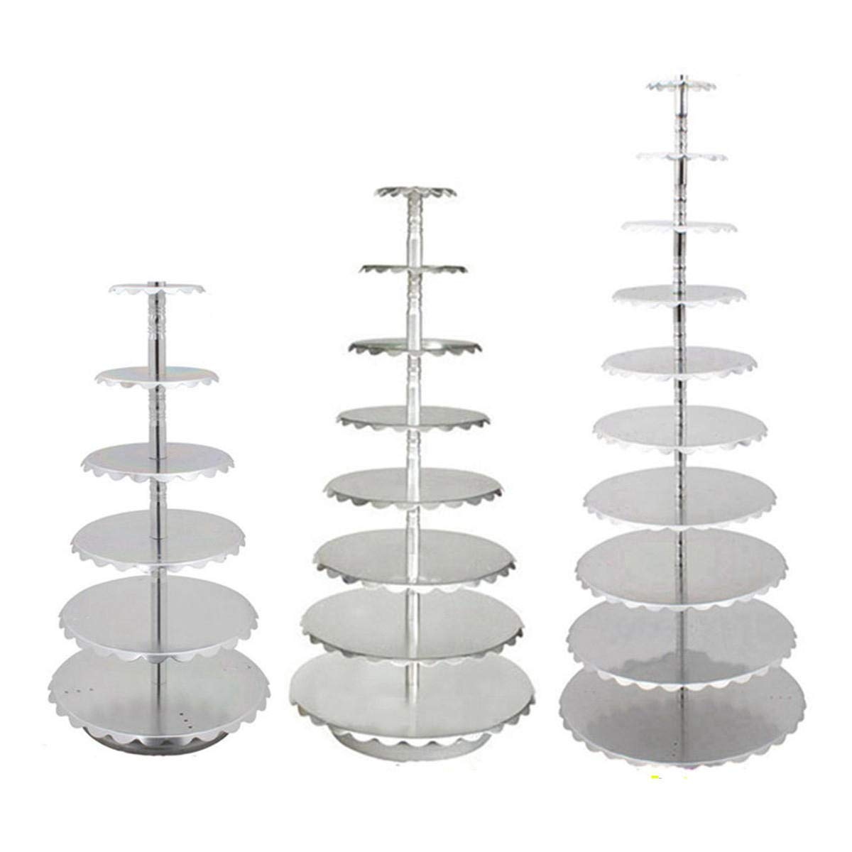 Fragil Tox Dessert Display Tower 6/8 / 10 Tier met097;l Cake Holder Cupcake Stand Birthday Wedding Tower Display Decorations 2 Multi 8 Medium