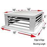 GSW DF-16P 16-Inch White Powder Coated 4-Way Adjustable Metal Diffuser for Evaporative/Swamp Cooler