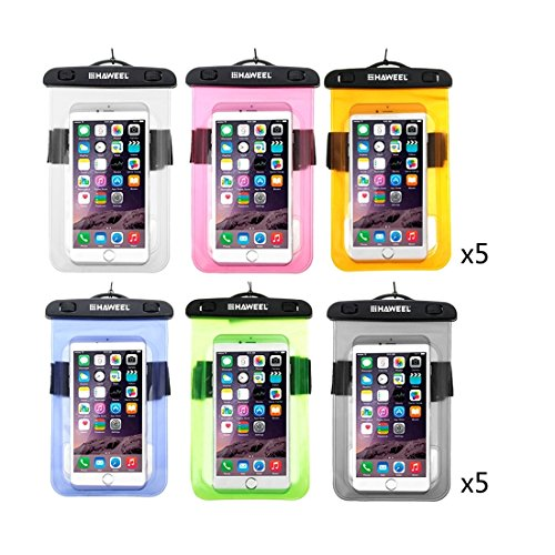 Wkae Case Cover 30 PCS gemischte Farben Transparent Universelle wasserdichte Tasche Kit HAWEEL mit Display-Ständer Box für iPhone 6 und 6 Plus / 6S &6S Plus Samsung Galaxy S6 / S5 / Note 5