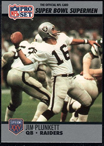 - Football NFL 1990-91 Pro Set Super Bowl 160 #35 Jim Plunkett NM-MT