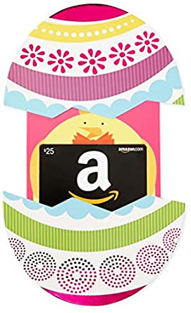 Amazon.com $25 Gift Card in a Easter Egg Reveal (Classic Black Card Design)