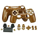 Cheap Replacement Housing Case for PS4 Controller, YTTL Hydro-Dipped Woodgrain Custom Controller Shell for PlayStation 4 PS4 controller Case Cover