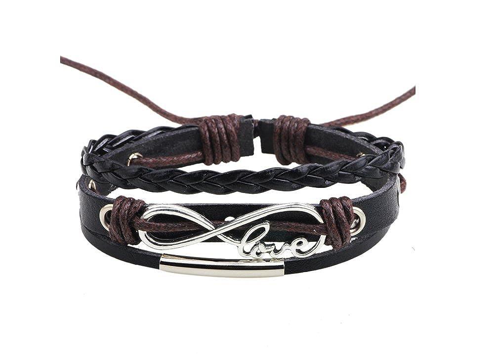 Infinite LOVE sign beaded woven bracelet QNW-2137