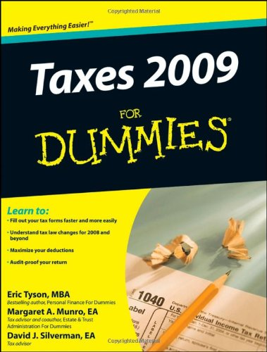 Taxes 2009 For Dummies - Refund Tax Usa Sales