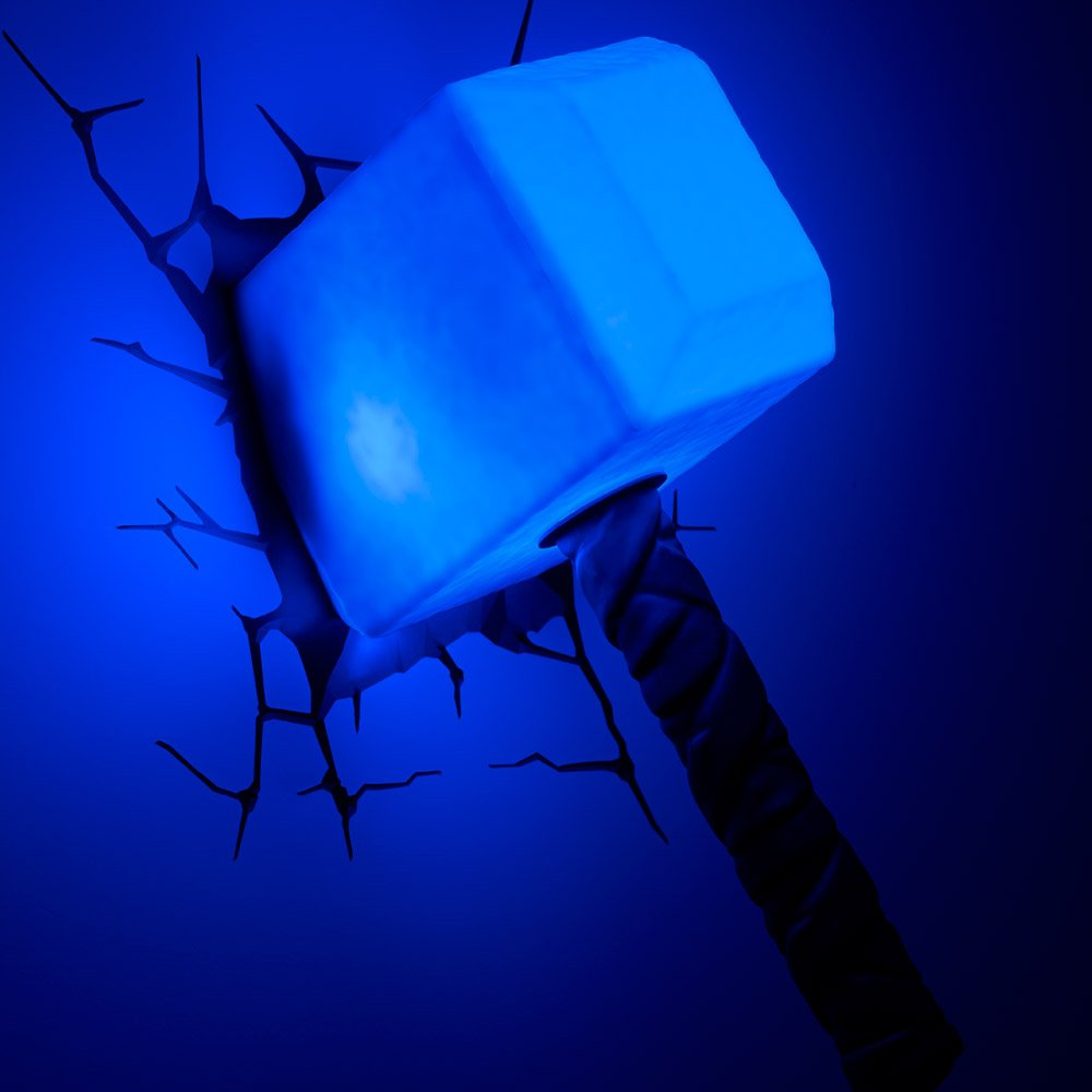 Thor hammer 3D LED lamp