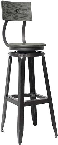 HARLEY-DAVIDSON Bar Shield Wood Backrest Bar Stool, Ash Gray Wood HDL-12212