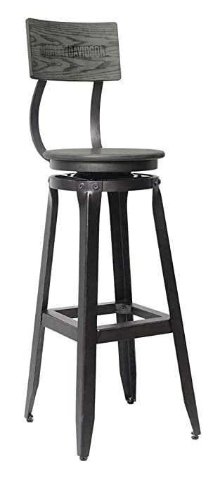 Phenomenal Harley Davidson Bar Shield Wood Backrest Bar Stool Ash Gray Wood Hdl 12212 Squirreltailoven Fun Painted Chair Ideas Images Squirreltailovenorg