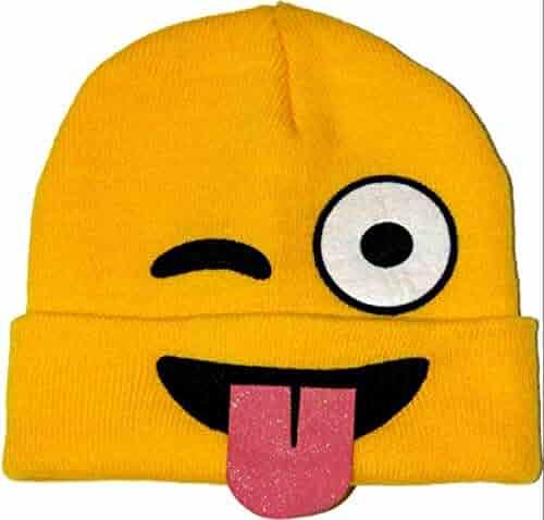 Tropical Hawaiian Heart Eyes Emoji Beanie Knit Cap Hat Best Autumn Winter  Cool Dude Hats Outdoor 951c05763368