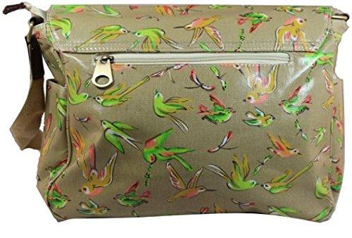 Satchel Girls Bird Bag Swanky Floral amp; School Beige Womens Bag Handbag Print qHIBw141Y
