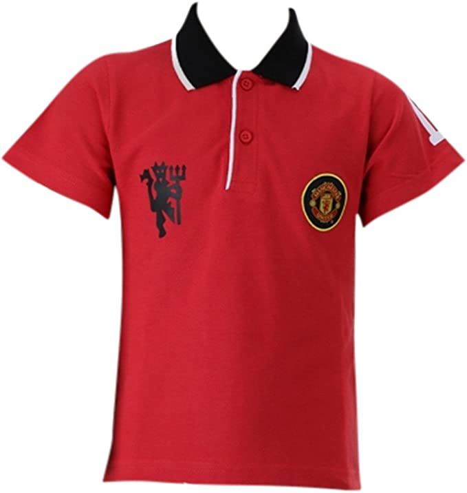 Manchester United Manchester United Children S Polo Shirt Red Size 4 To 12 Years 12 Years Amazon Co Uk Clothing