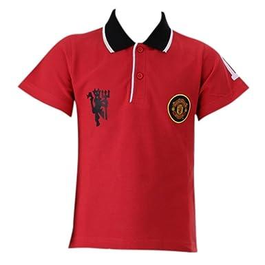 Manchester United - Polo niño, Color Rojo, Talla de 4 a 12 años ...