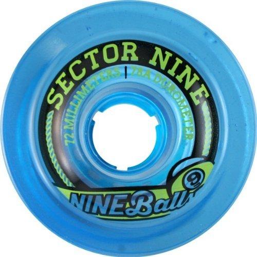 Sector 9 Offset Top Shelf Blue Longboard Wheels - 72mm 78a (Set of 4) by Sector 9   B00IOJ4GN6