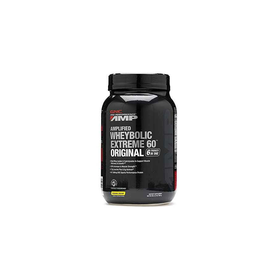 GNC Pro Performance AMP Amplified Whey Bolic Extreme 60 Original Powder