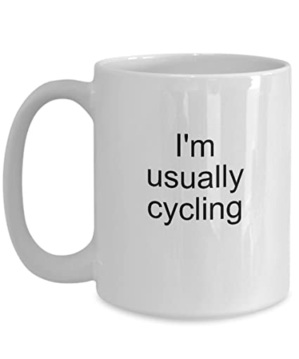 Amazon.com: Biker Cycling Mug Gift Idea - I Love Cycling - Funny Gifts Ideas Coffee Cup Tea Themed Mugs for Cyclers: Kitchen & Dining