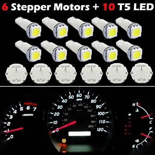 t5 White light bulbs 6X For 03-06 GMC CHEVY CLUSTER STEPPER MOTORS X27.168 10