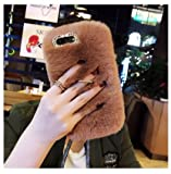 ZTE Blade ZMax Case, ZTE Sequoia Case, ZTE Z982 Case, Mellonlu Luxury Bling Diamond Crystal Soft Furry Fur Protective TPU Back Case with Stand Holder for ZTE Blade Zmax Z982