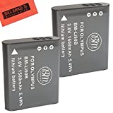 BM Premium 2-Pack Of LI-92B, LI-90B Batteries for Olympus Tough TG-5,...